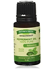 Nature's Truth Essential Oil - 100% Pure Peppermint Oil | Pure & Plant-Based | Massage Oil, Aromatherapy or For Bath/Shower |15 ml
