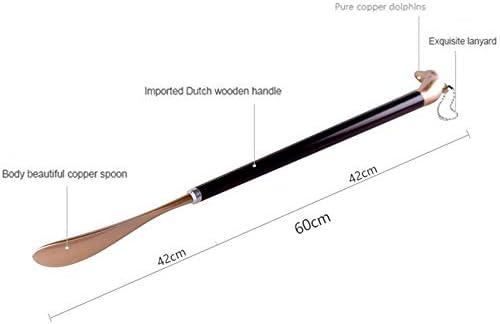 軽量 金属合金の靴ホーンズイルカの形の靴べら60センチメートルロングシューホーン 耐用 (Color : Silver, Size : 60cm)