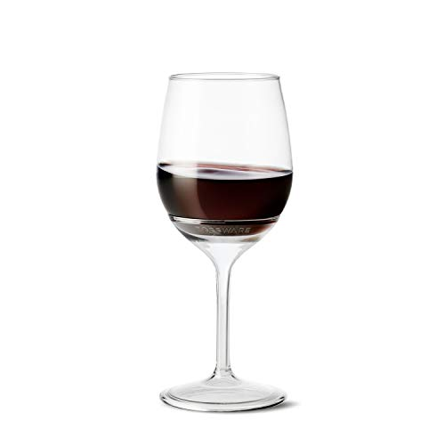 Plastic Wine Glasses Bulk Cheap (TOSSWARE 14oz Stemmed Vino- recyclable wine plastic cup -SET OF 12- detachable stem, shatterproof, and BPA-free wine)