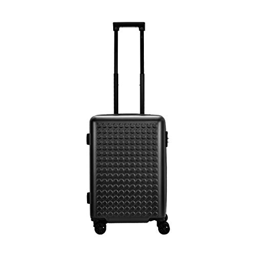 Eske Paris Odyssey Polycarbonate Hardsided Suitcase With Expandable Cabin, 8 Wheel Trolley Luggage, Black