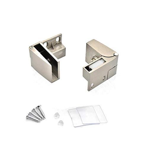 WEIJ Pair 90 Degree Self - Positioning,3-5mm Thickness Glass Door Clip Clamp Hinges,Cabinet Door Wine Cabinet Display Cabinet Replacement - Mirror Hinge
