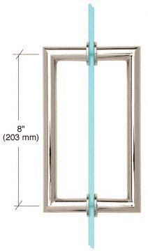 C.R. LAURENCE MT8X8PN CRL Polished Nickel 8 MT Series Round Tubing Mitered Corner Back-to-Back Pull Handle by C.R. Laurence
