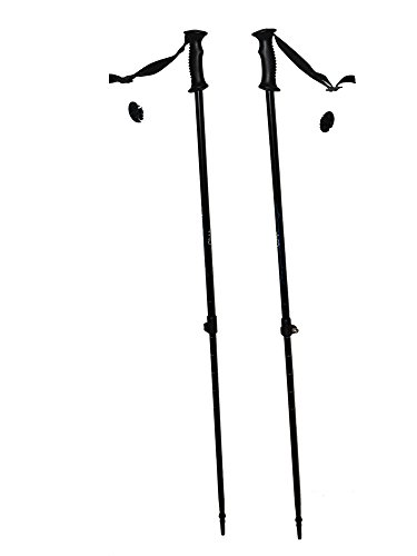 WSD Ski Poles Telescopic Adjustable Adult Downhill/Alpine Pair with Baskets 115 cm - 135 cm New (Telescopic Skiing Poles)