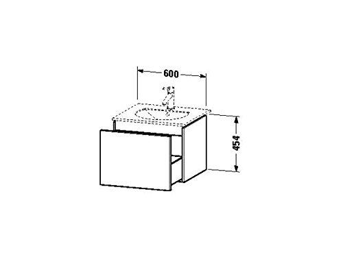 Duravit Waschtischunterschrank wandh. Delos 516x600x454mm 1 Auszug, für 049963, weiss hochglanz, DL6