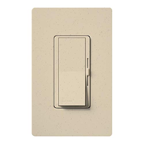 Lutron DVSC-603P-ST Dimmer Switch, 600W 3-Way Incandescent/Halogen Diva Satin - Stone