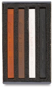 Drawing Conte Crayons (Conte Crayon Match Box- Set of 4 Colors)