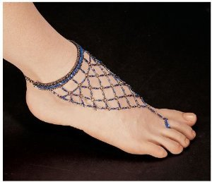 Egyptian Blue Nile Isis Slave Anklet/Slave Ankle Bracelet