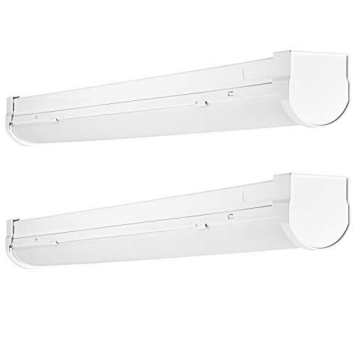Slim Led Garage Lights: Luxrite 2FT Slim Linear LED Shop Light Fixture, 17W, 3000K