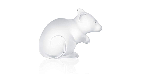 Lalique Crystal Mouse Figurine with Original Box