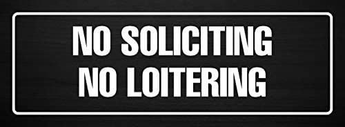 Metal Dark Wood Single iCandy Products Inc No Soliciting No Proselytizing Business Office Door Building Sign 3x9 Inches