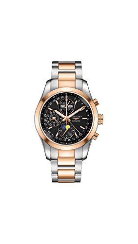 Longines-Conquest-Classic-Automatic-Moonphase-Steel-18k-Rose-Gold-Mens-Watch-L27985527