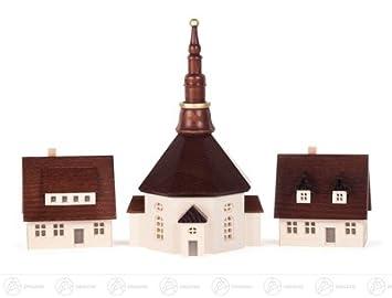 Léglise Miniature De Seiffener Et Maisons Avec Fraisées Les - Taille moyenne d une maison