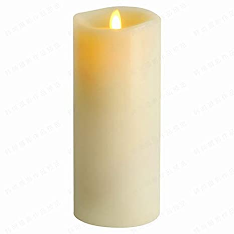 Aglary Moving Wick Candles With Flameless Flickering And Timer Battery Operated Real Wax Pillar Candle Vanilla