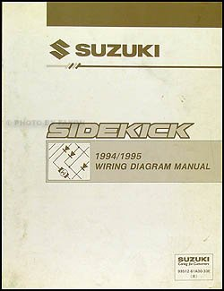1994 1995 suzuki sidekick 1600 sport 1800 x 90 wiring diagram manual rh amazon com Suzuki Sidekick VSV 1995 Suzuki Sidekick