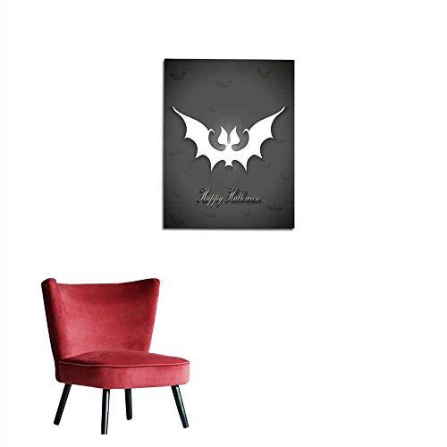 longbuyer Art Stickers Halloween Bats Greetings Card Mural -
