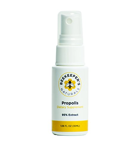 Beekeeper's Naturals Bee Propolis Throat Spray Premium 95% Bee Propolis Extract | Natural Throat Relief and Immune Support | Great for Kids