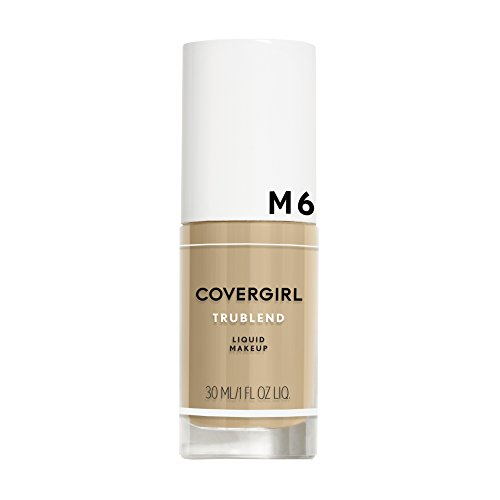 COVERGIRL truBlend Liquid Foundation Makeup Perfect Beige M6, 1 oz (packaging may vary)