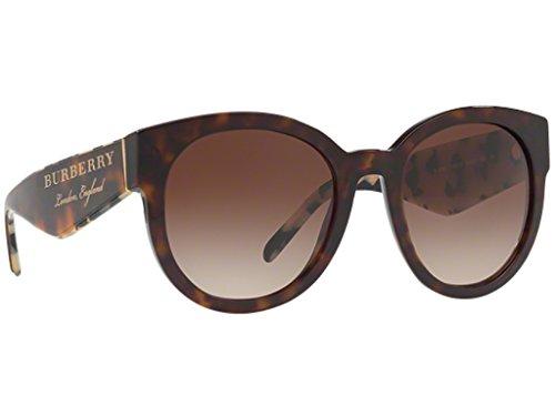 Burberry BE4260 368813 Dark Havana BE4260 Round Sunglasses Lens Category 3 - Burberry England