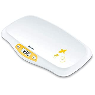 Beurer BY80 Baby Scale, Pet Scale, Digital   For: Infant, Newborn/Puppy, Cat – Animals   LCD Display, Weighs [LB/OZ/KG] Highly Accurate   Hold & Tare Function   Curved Weighing Platform, (44 lbs)