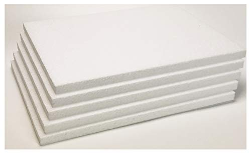 4-Pack EcoBox 24 x 48 x 1 Inches Expanded Polystyrene Foam Sheet E-3222-4