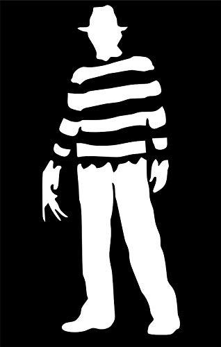 ShopForAllYou Stickers & Decals (Forrest Green) Freddy Krueger Full Body Horror Movie Vinyl Decal Sticker Car Window -