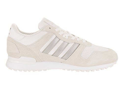 adidas Originals Herren ZX 700 Lifestyle Runner Sneaker Weiß / Matt Silber / Weiß