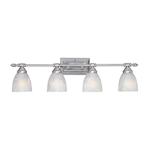 [Designers Fountain 94004-SP Apollo 4 Light Bath Bar] (Platinum 4 Light Vanity Lamp)