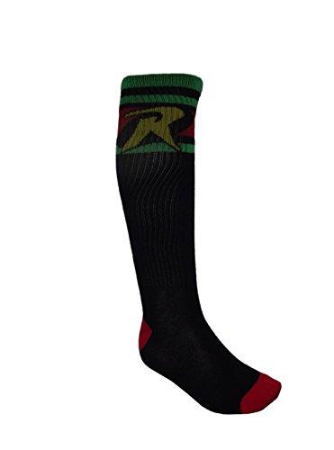 Bio World DC Comics Robin Logo Knee High Socks (Size: 9-11)]()