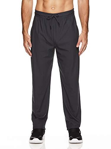 (Reebok Men's Stride Track Pants - Performance Activewear Running & Workout Bottoms - Ebony Stride, Medium)