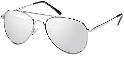 Hatstar Silver Verspiegelt hombre Gafas sol Glas Silver Rahmen de para 84 0Sq6rxw0U