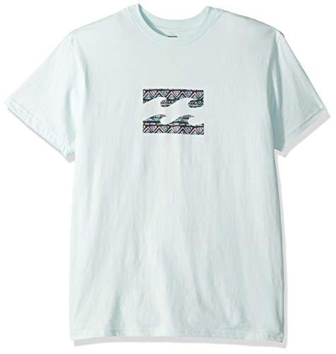 Billabong Men's Team Wave T-Shirt Sky Large (Graphic T-shirt Sky)