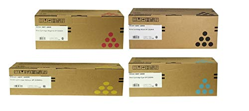 Ricoh SP C252HA Toner Cartridge KIT For SP C252DN /SP C252SF Printers, Consists of Black (407653), Cyan (407654)Magenta, (407655), Yellow (407656), Yields Up TO 6500 Pages