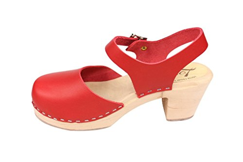 Lotta Da Stoccolma: Highwood Mary Jane Style In Pelle Rossa