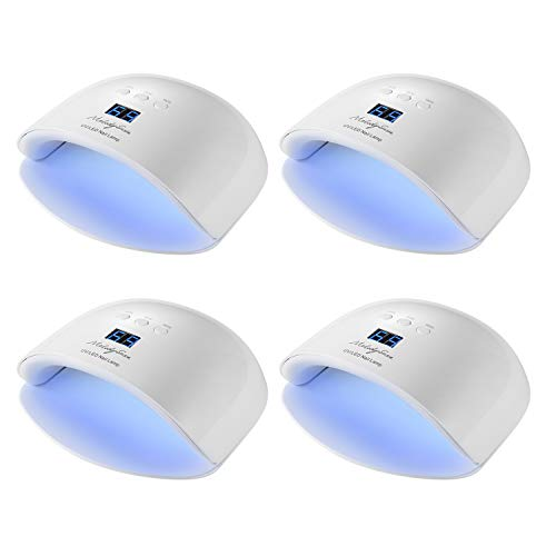 MelodySusie 22W UV Light LED Nail Dryer Curing Lamp for Fingernail & Toenail Acrylic Gel Nail Polish,4 Pack ()