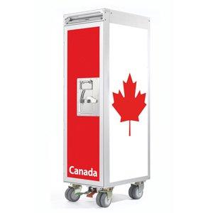 Skypak Flugzeugtrolley, Flag, Farbe: Canada