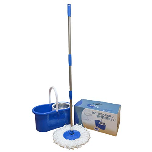 Stainless Steel 360 Easy Spin Mop&Bucket Floor Cleaning System + 2 Heads