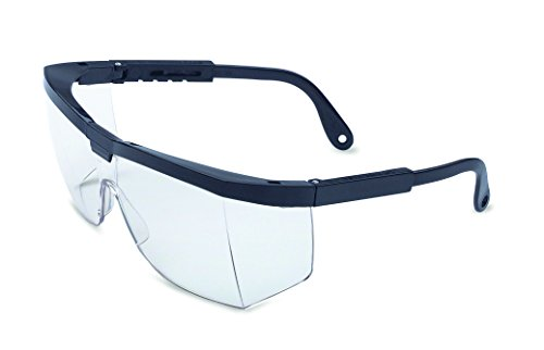 00 Black Frame, Clear Lens with Anti-Scratch Hardcoat Series Safety Eyewear (Clear Ud Lens)