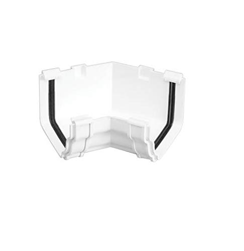 RCA522 WHITE for OGEE style 116 x 75 mm guttering system 45 deg Marley Classic Internal Angle