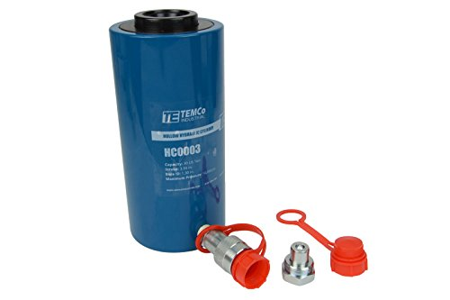 TEMCo HC0003 - Hollow Hydraulic Cylinder Ram 30 TON 4 In