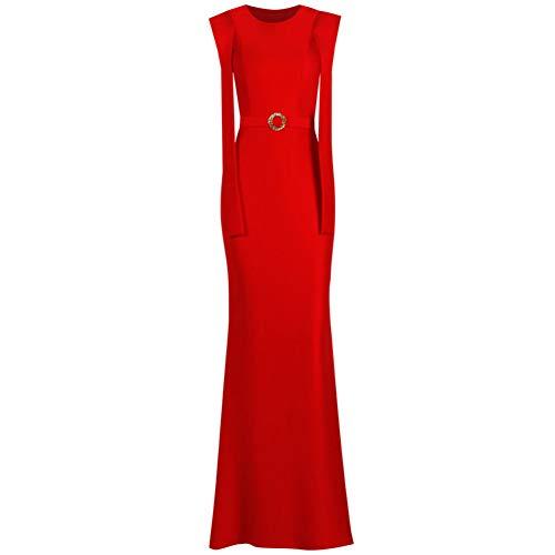 Annuale Rosso Abito Nuovo Da Lungo Vestito Sera Banchetto Solista Femminile Riunione Costume X Sottile Host Bingqz Inverno qAUw00