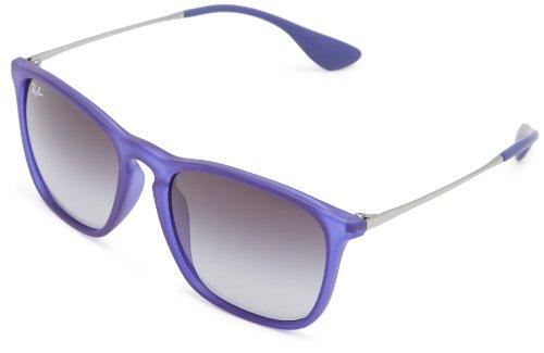 Ray-Ban - RB4187 Chris - Lunettes de soleil Homme Bleu (Rubber Trasparent Blue)