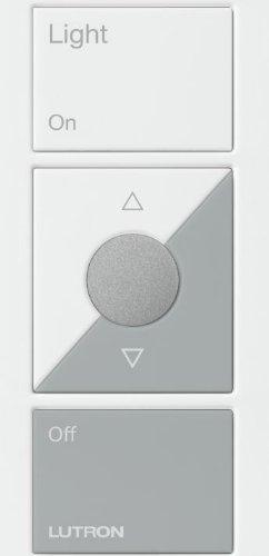 Lutron PJ2-3BRL-GWH-L01 Maestro Wireless Pico Remote Control, White/Gray