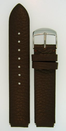 Leather Watchband Fits Philip Stein Large Size 2, 20mmDark Chocolate Brown With Spring Bars - by JP Leatherworks by JP Leatherworks (Image #1)