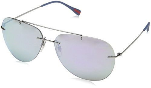 Prada RED FEATHER PS50PS Sunglasses 5AV2E2-63 - Gunmetal Frame, Mirror - Red Prada