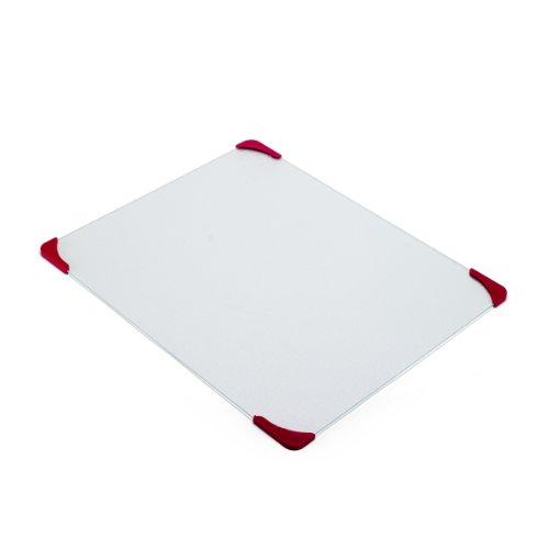 Farberware Glass Utility Cutting Board with Non-Slip Corners, 16-Inch-by-18-Inch