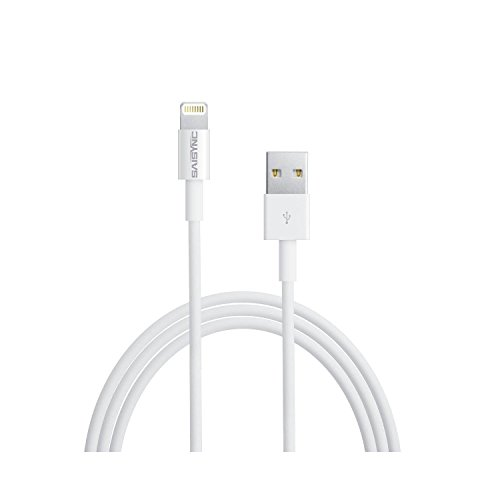 Lightning to USB Cable/ iPhone Charging Cord 1m (3 ft) Fast Charge and Sync USB Cabe for iPhone iPad iPod with Lightning Connector (Suitable for LifeProof Cases) (1 Pack)