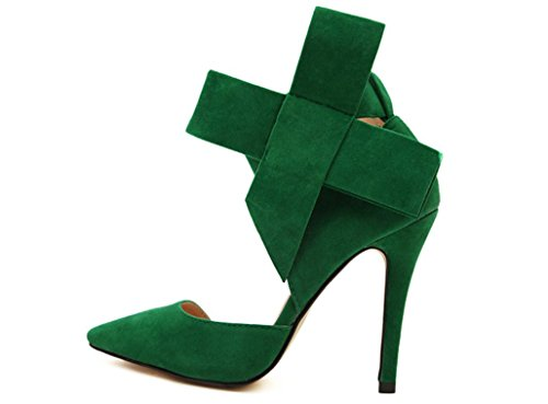 YCMDM signore delle donne scarpe Paste-tacco alto scarpe sandali moda scarpe singolo primavera-estate , green , 37