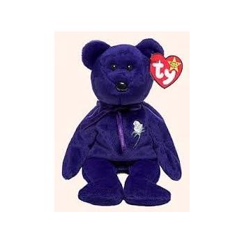 Amazon.com  Ty Beanie Original Baby  Princess  Purple Bear with ... 3a5fcca40bd