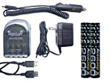 4 Hr Aa/Aa Smart Charger & 8 Aa 2600 Mah Acculoop-X (Low Discharge) Batteries