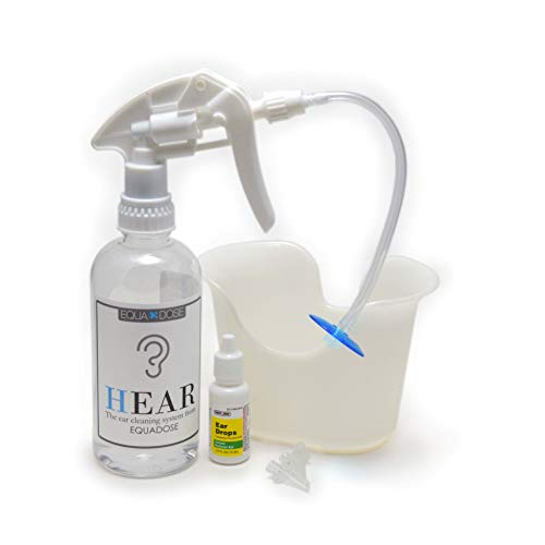 Hear Earwax Remover Kit, Includes: Ear Drops to Soften Ear Wax, Wash Basin, 3 Soft Disposable Tips, Irrigation System to Clean Outer Ear (Best Way To Clear Blocked Drains)